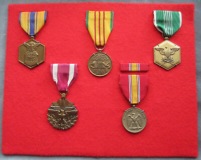 A Collector's Grouped Display of USA Medals.
