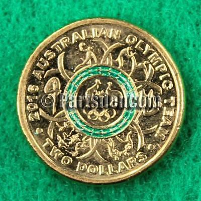 1 x 2016 Rio Olympic $2 Two Dollar Coin Green from unc RAM bag Australian coins