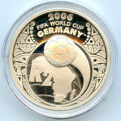 Afrique du Sud Coupe du monde de Football 2 Rand Argent 2005 PROOF