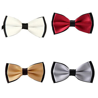 Adults Two Tone Satin Fashion Wedding Fancy Dress Wedding Pretied Bow Necktie