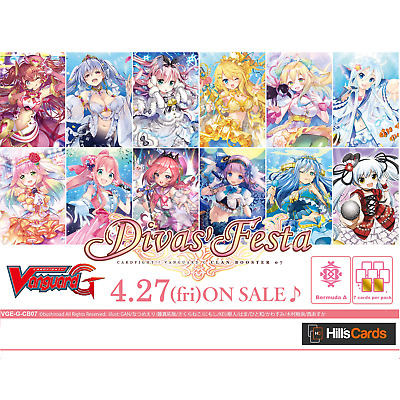 Cardfight Vanguard - Divas' Festa Clan Booster Box G-CB07 - 12 Packs