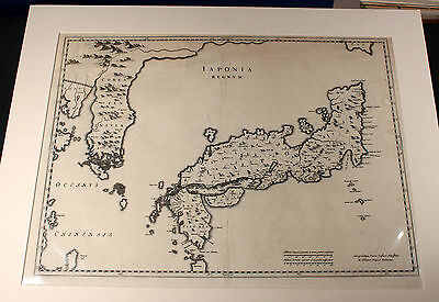 Iaponia Regnum Japan Nippon by Martini 1655 Original copper engraving Map Karte