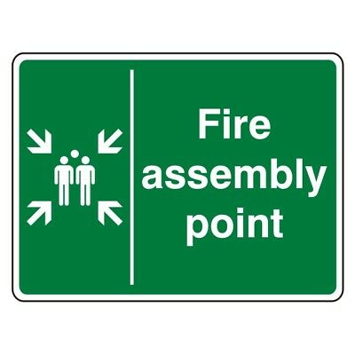 Fire Assembly Point Sign (with family)