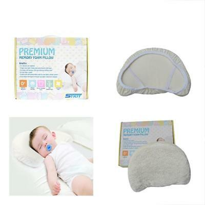Perfect Flat Head Memory Foam Baby Pillow Prevents Infants Head, Supports Babys
