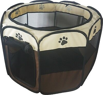 74cm Safe & Soft Pet Play Pen Large Puppy Dog Travel Cage Fabric Guinea Rabbit