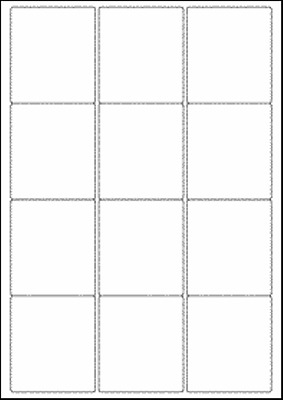 Approx 100 A4 Sheets Blank Multipurpose Labels 12 Per Sheet 63.5mm x 72mm