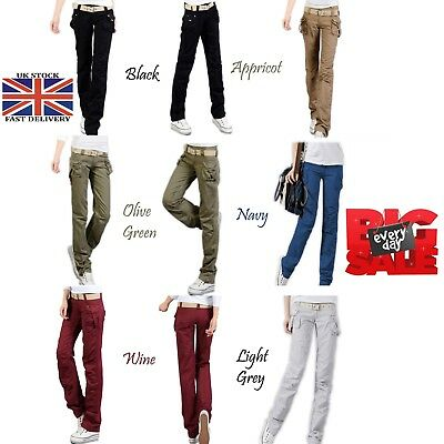 Women's Military Combat Trouser Ladies Cargo Pants & Girl Twill Trousers UK 6-16