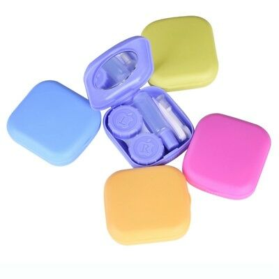 Contact Lens Case Portable Storage Box Lens Holder Travel Replacement Container