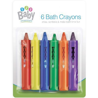6 x Childrens Bath Time Crayons Creative Safe Fun Draw Learn Set Educational