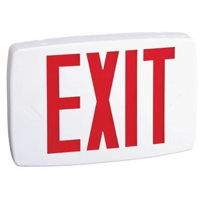 Plastic White LED Emergency Exit Sign with Battery