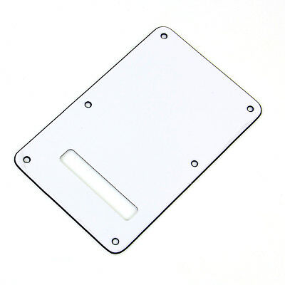 Electric Guitar Backplate Pickguard Cavity Cover for Fender Strat White 3 Ply
