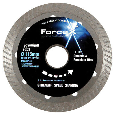 FORCE-X Diamond SUPER THIN TURBO Porcelain Tile Blade Disc CFT115 115mm 4 1/2""