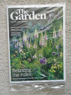 Bnib Rhs The Garden Magazine May 2018 House Plants Geraniums Lettuce New Sealed