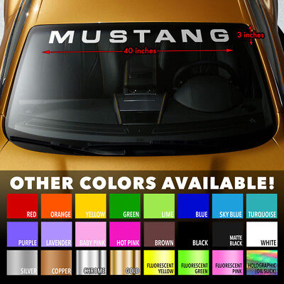 MUSTANG Windshield Banner Vinyl Decal Sticker for Ford Shelby 350 GT500 Cobra