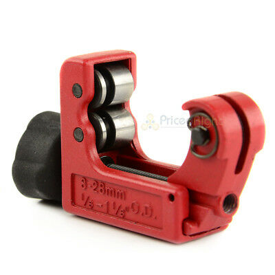 "Mini Tubing Cutter 1/8"" to 1-1/8"" O.D. Plumbing HVAC Copper Pipe Tekton 64505"