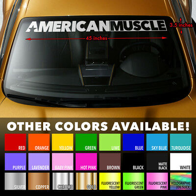 AMERICAN MUSCLE CAR MURICA Windshield Banner Premium Vinyl Decal Sticker 45x3.5""
