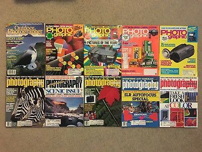 Vintage Lot of 19 Photography Magazines 1990 1992 PHOTOGRAPHIC art Outdoor photo