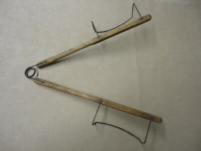 Antique Primitive Wood and Wire Pie Lifter Kitchen Tool Old & Authentic