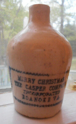 Sample Mini Jug Whiskey Crock Merry Christmas Caspers Roanoke, Va