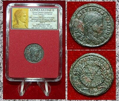 Ancient Roman Empire Coin Of CONSTANTINE II Wreath On Reverse Arles Mint