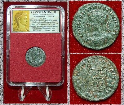 Ancient Roman Empire Coin Of CONSTANTINE II Campgate On Reverse