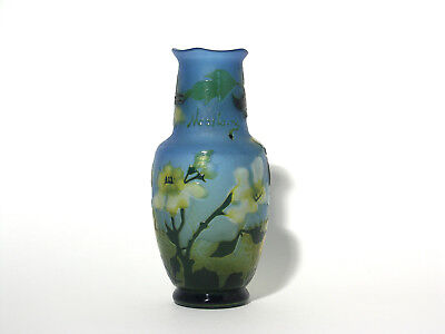 Attractive Cameo Glass Vase – Signed Madelaine