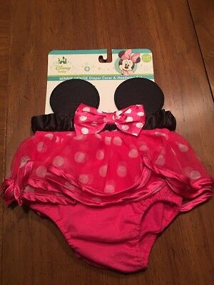 Minnie Mouse Diaper Cover and Headwrap BRAND NEW INFANT 0-12 Months ADORABLE