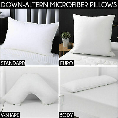 LUXURY PILLOW RANGE STANDARD KING BODY EURO V-SHAPE COT Cotton Cover Inserts