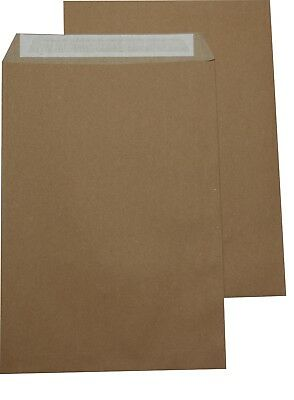 250 St Envelopes Extra Strong 120 Size DIN A4 C4 Brown Without Windows HK