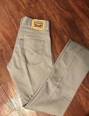 Levi's 511 Slim skinny Stretch Youth trendy Jeans Gray Size 16 28x28 WORN ONCE