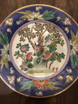 """Pair Of Antique Chinese Signed Painted By Hand   10"""" Plates"""