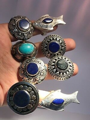(Sell 8) Rings wonderful Lapis & Agate & turquoise Stone Rare Beautiful Rings
