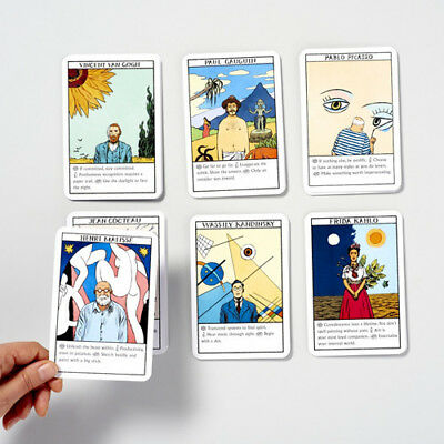 Art Oracle 50 Cards each one inspired by a famous artist from Picasso to Frida