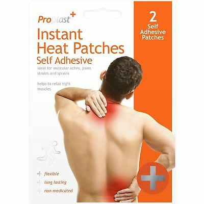 2 x Proplast Self Adhesive Heat Pads Pain Relief Patch Plaster Deep heat Muscle