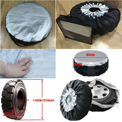 Universal Car SUV Spare Tyre Tire Wheel Protection Cover Storage Bag 13-19inch