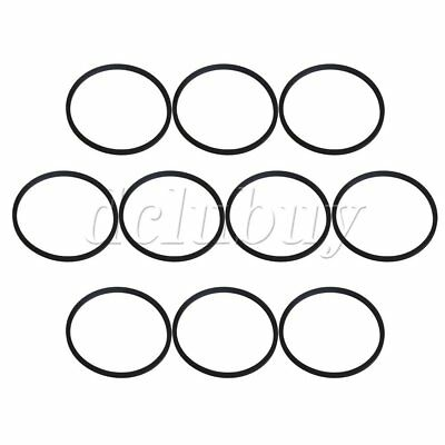 10 x Black Rubber Turntable Drive Belt for Phonograph Record Player 11cm