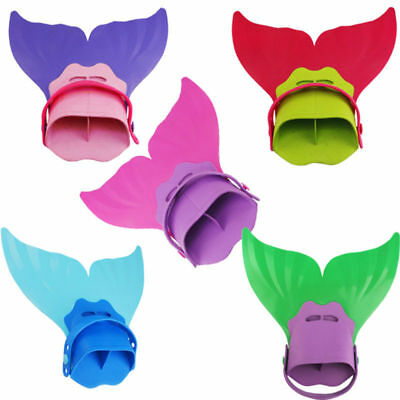 Kids Child Mermaid Tails Girls Swimmable Monofin Swimming Mono Fin Flippers
