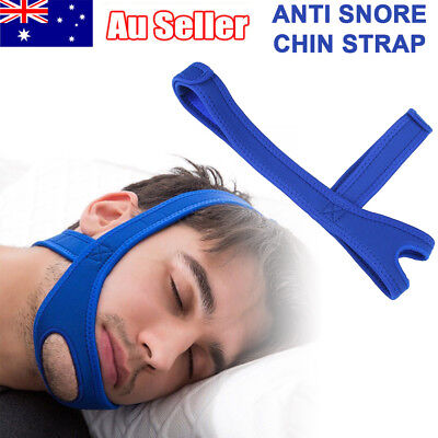 Stop Snoring Strap Adjustable Chin Belt Support Aid Sleep Anti Snore Device