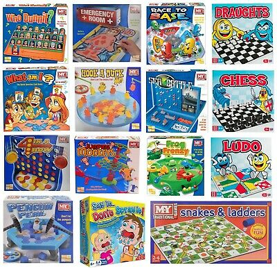 Full Size Traditional Classic Family Board Games Kids Indoor Fun Toy Game New UK