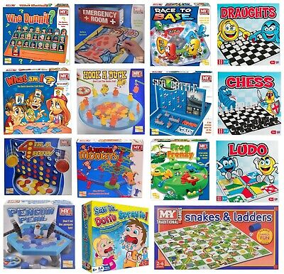 Traditional Classic Board Games Modern Full Size Fun Family Kids Children New