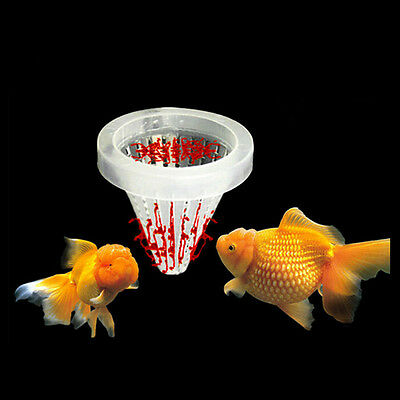 Aquarium Basket Feeder Fish Food Live Worm Bloodworm Cone Feed Tool J&C