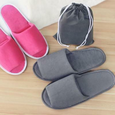 Travel Breathable Non Disposable Slippers Foldable Hotel SPA With A Storage 1