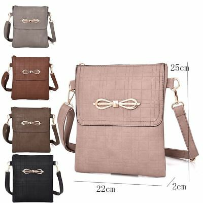Womens Designer Style Cross Body Bag Ladies Handbag PU Leather Shoulder Bag