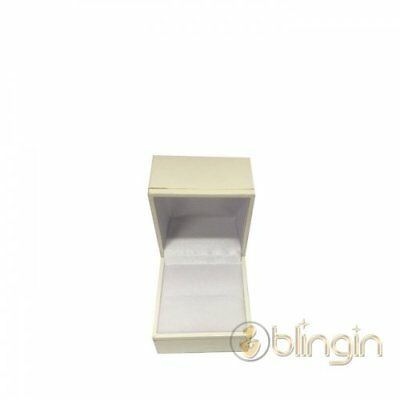 12 X QUALITY WHITE LEATHERETTE RING GIFT BOX. 45(w)x50(d)x35mm(h). AU SELLER.
