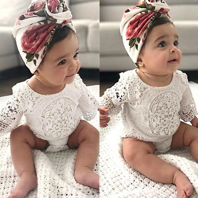 Lace Newborn Baby Girl Infant Romper Bodysuit Jumpsuit Clothes Outfits Sunsuit