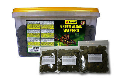 Green Algae Wafers Tropical Fish Food With Spirulina Sinking For Algae Eaters