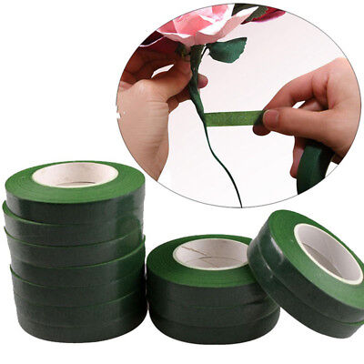 1pcs 12mm 30 Yards Green Color Paper Tape for Nylon Stocking Flower Butterfly