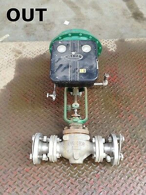 "Fisher Type 667 1-1/2"" Cast Iron Diaphragm Actuated Globe Control Valve"