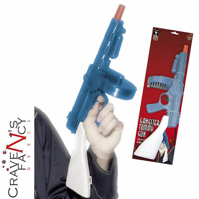 Adults 1920s Gangster Tommy Gun Toy Fancy Dress Prop 20s Pimp Moll Mens Ladies