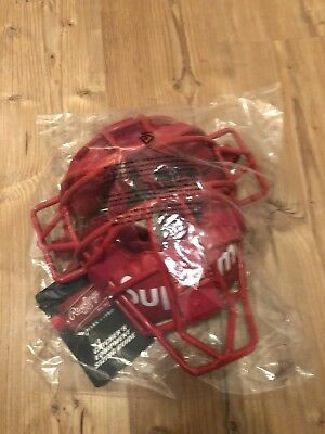 SUPREME x Rawlings Catcher's Mask Box Logo Hypebeast SS 01/18 Baseball RED NEW